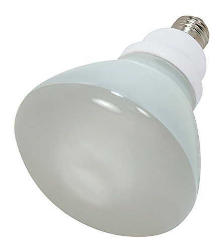 Satco S7241 Compact Fluorescent Light Bulb (Pack of 2), 23 Watts, 120 Voltage, 1090 Initial Lumens, R40 Lamp Shape, Medium Base, E26 ANSI Base, 6.49'' MOL, 5.00'' MOD, 1000 Average Rated Hours ()