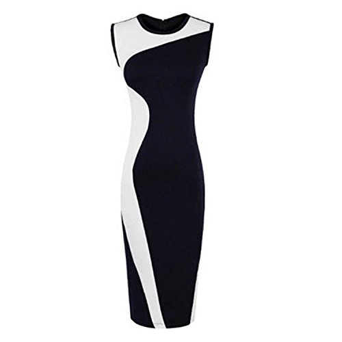 forever-yung-womens-sleeveless-o-neck-dual-color-tone-bodycon-business-dress-black-white-s