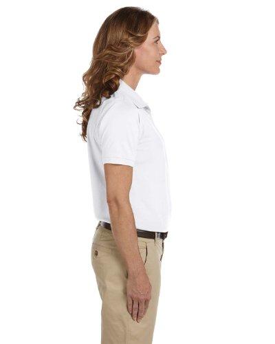 Ladies' Easy Blend Polo, White, 3XL