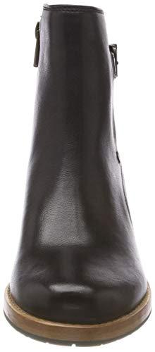 black Leather Clarks Botines Clarkdale Femme Noir Jax wxfwq4