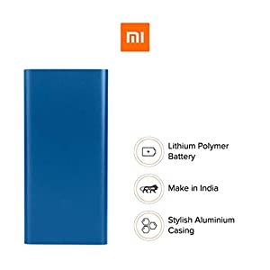 Mi 10000mAH Li-Polymer Power Bank 2i (Blue) with 18W Fast Charging