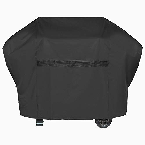 iCOVER Grill Covers 60 inch Gas Barbeque Grill Cover, 600D Heavy Duty Waterproof Canvas, UV Resistant & No Fading, for Weber Char Broil Holland Jenn Air Brinkmann #G21604-1