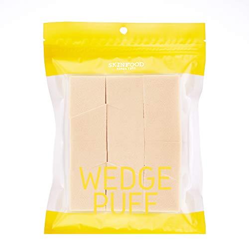 SKIN FOOD Wedge Puff Sponge Jumbo Size 12pcs - Blender Beauty Foundation BB Cream Blending Sponge, Flawless for Liquid, Cream, Multi Purpose Cosmetic Applicator Puff
