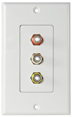 OSD Audio Audio/Video 3 RCA Decora Style Wall Plate ()