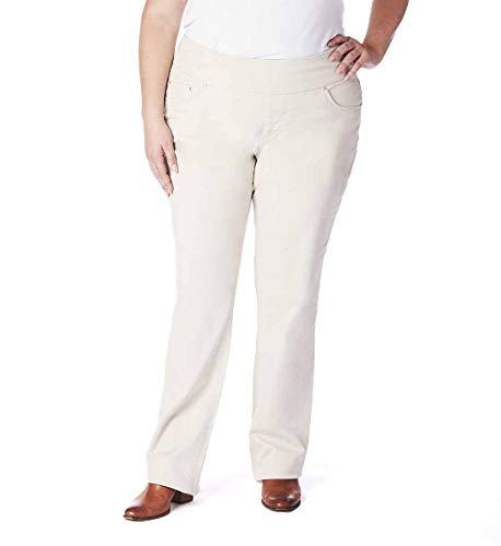 Jag Jeans Women's Plus Size Peri Straight Pull on Jean, Stone Twill, 20W