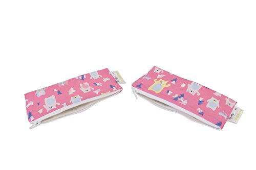 itzy-ritzy-happens-mini-reusable-snack-and-everything-bag-forest-friends-pink
