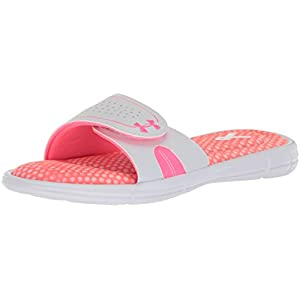 Under Armour Women's Ignite PIP VIII Slide, Cerise (601)/White, 8