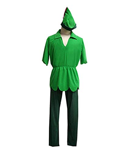Halloween Party Online Men's Peter Pan Costume, Green
