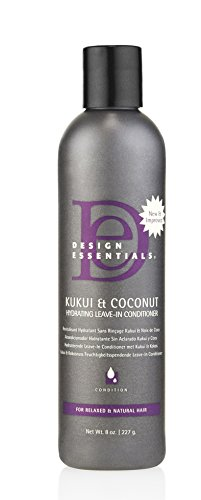 Design Essentials Strengthening Kukui & Coconut Hydrating Leave-In Conditioner for Relaxed and Natural Hair-8oz.