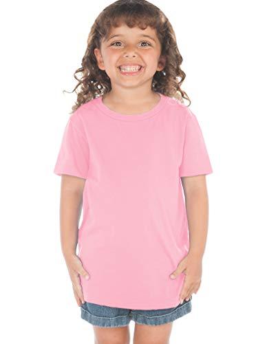 Kavio! Toddlers Crew Neck Short Sleeve Tee (Same TJP0494) Bubblegum Pink 2T