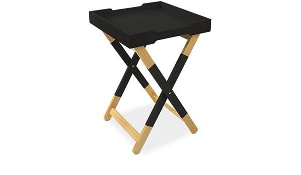 Super Amazon Com Mainstays Wood Tray Side Table Black L X W X H Spiritservingveterans Wood Chair Design Ideas Spiritservingveteransorg