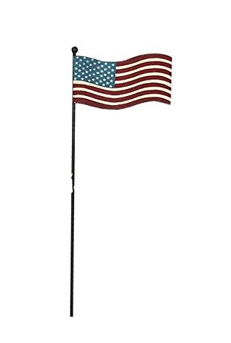 Atracción metálica con diseño asta rústico selección con la bandera estadounidense-que enarbole el pabellón, dos lados