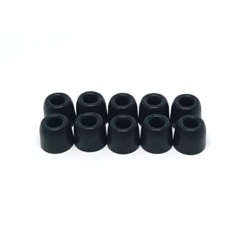 Inner Foam - ANJIRUI Foam Earphone Tips Premium Memory Replacement Earbud Tips Inner 4.9mm [5 Pairs] Medium Size for Most Headphones Tips from 5.0mm-7.0mm (Black)