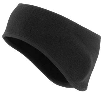 (Schampa Black 200 Weight Fleece Single-Layer Form Fitted Earband HBD002)