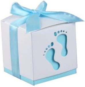 Bebé ducha favor regalo Candy CAJA pies patrón para niño niña ...