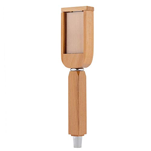 - KegWorks Changeable Draft Beer Tap Handle - Rectangle Top: Stained Natural Oak Finish