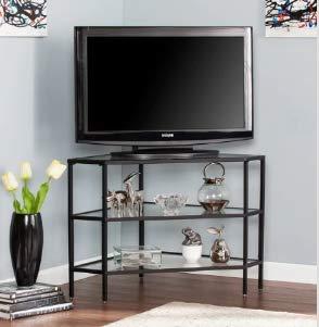 Amazon.com: Mueble de mesa con soporte para TV, cristal ...
