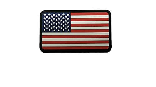 American USA Flag Original Colors 3D PVC Morale Patch