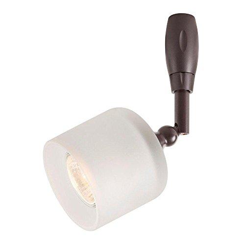 Hampton Bay Bronze Flex Track Lighting Head Frosted Glass Shade 1000000959 New