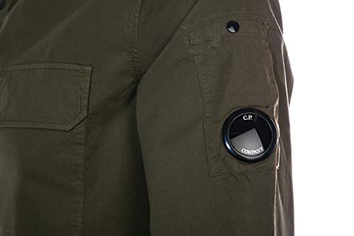 Company Cp Arm Overshirt In Lens Khaki Pocket Double Ybf7yg6