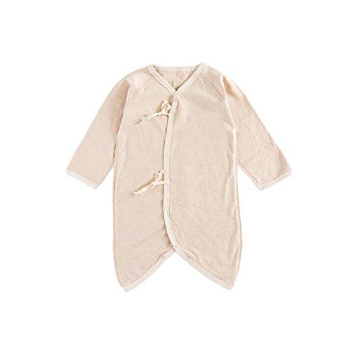 Fairy Baby Unisex Newborn Organic Cotton Belt Butterfly Slant Opening Romper