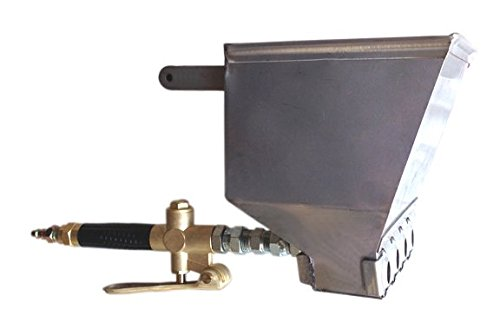 Stucco Sprayer Hopper Gun Made in the USA with heavy duty brass air valve, includes 2 plugs to use with 2,3 or 4 nozzles