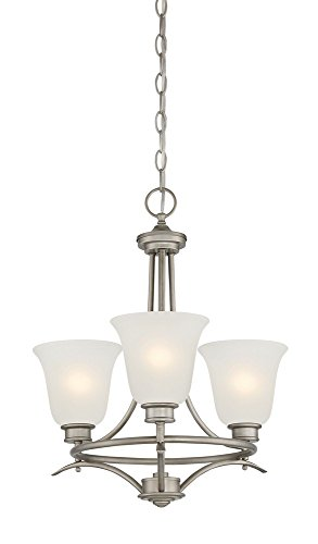 Designers Fountain 96983-MTP Montego 3 Light Chandelier, 18