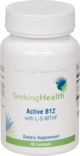 Active B12 Lozenge With L-5-MTHF | 60 Lozenges | Physician Formulated | Seeking - Lozenges B-12