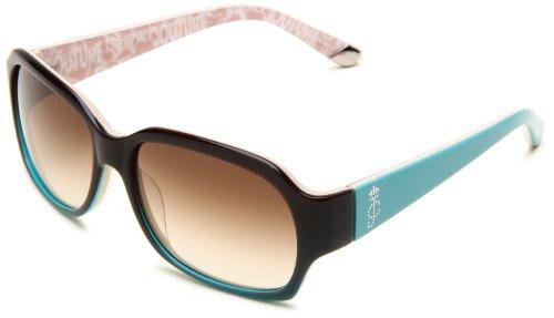Juicy Couture Fashion Sunglasses - Juicy Couture Women's JU522S Rectangular Sunglasses,Brown Aqua Fade Frame/Brown Gradient Lens,One Size