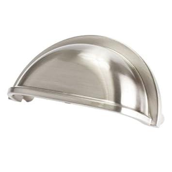 Beautiful Satin Nickel Cabinet Handles Drawer Bin Cup Pull 3u0026quot; ...