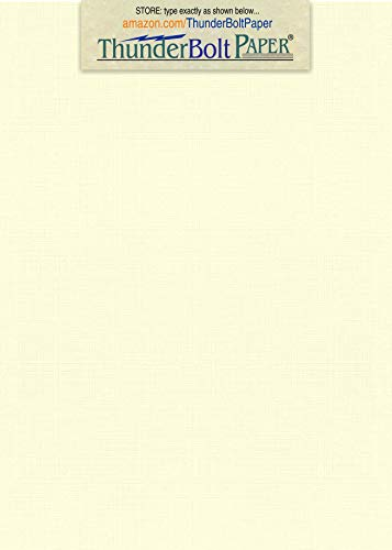 "100 NATURAL White Linen 80# Cover Paper Sheets - 4.5"" X 6.5"" (4.5X6.5 Inches) Between 4X6 and 5X7 Invitation Size - 80 lb/pound Card Weight - Fine Linen Textured Finish - Quality Cardstock"