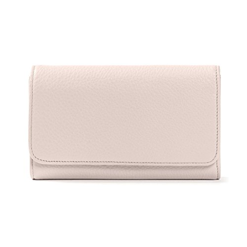 Checkbook Clutch Wallet - Full Grain Leather - Stone (gray) by Leatherology