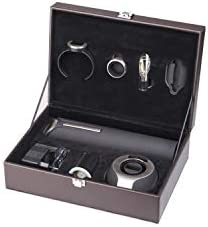 PACK6 Climadiff Sommelier's Box Set - Contiene seis accesorios necesarios para almacenar y servir el vino - Ideal para enólogos neófitos y amantes del vino por igual