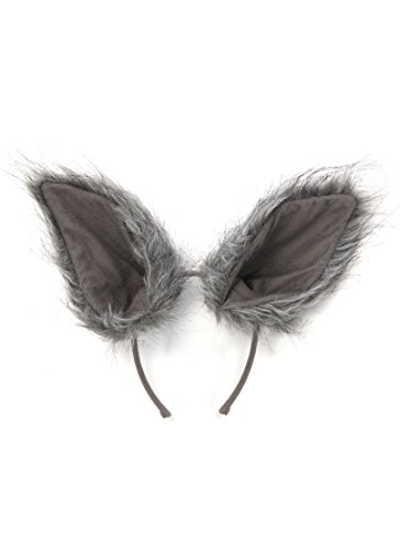 [Deluxe Oversized Wolf Ears by elope] (Wolf Halloween Costumes)