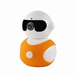 Putars Pan & Tilt IP/Network Camera with Two-Way Audio and Night Vision,720P IP Camera Day/Night Wireless Video Monitoring Remote Control(Orange)