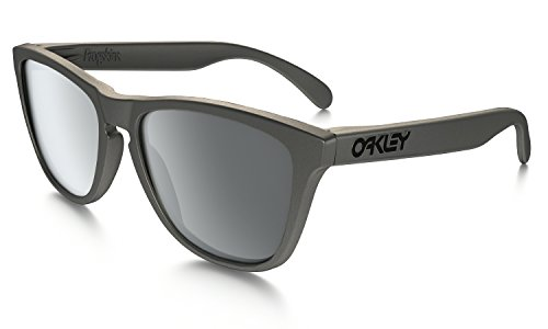 Oakley Adults Frogskins Asian Fit Sunglasses, Lead/Black Iridium, One - Oakley Fit Asian Polarized
