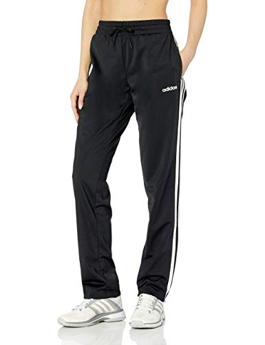 adidas Women's Essentials 3-stripes Tricot Pants, Black/White, Large (Best Track Pants For Women)