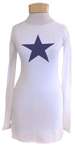 Hard Tail Star Tee - White/Midnight (S, White/Midnight)