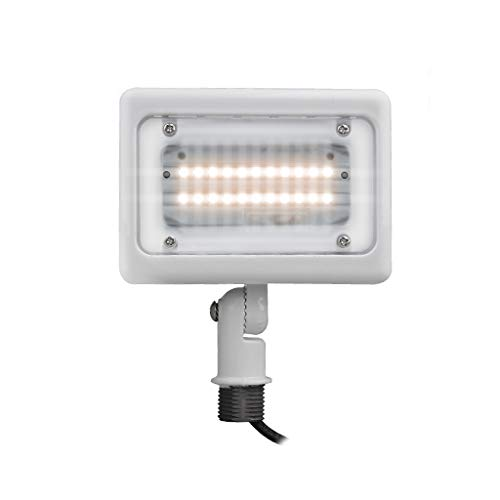 "LED Mini Flood Light Outdoor Waterproof Fixture 1/2"" Knuckle DLC Listed; Mount Solution for Landscape/Security Lighting 15W=75W Equivalent; 1,883 LMS; 100-277V; 50,000 Life Hours; (Warm White 3000K)"