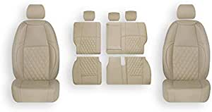 al Baroon Car Seat Cover Custom Fit For C R V-2017-2018 L.Beige