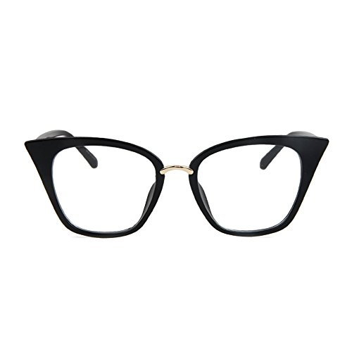 TIJN Vintage Non-prescription Cateye Eyeglasses Frame for - Prescription Cateye Glasses
