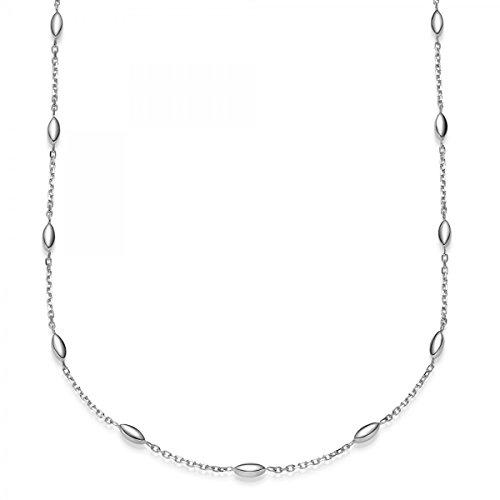 Imagination de bracelet rond Câble d'ancrage avec chaîne en or blanc 58519-21cm