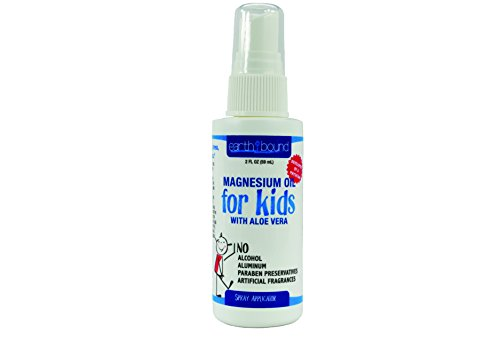 EarthBound Magnesium Oil Spray for Kids with Aloe Vera   Doctor Formulated Gentle Children's Formula   2 - Chloride Magnesium Kids