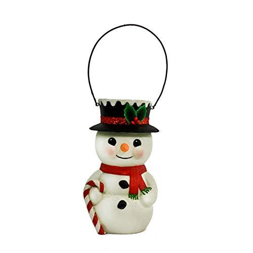 Largemouth Bethany Lowe Snowman Bucket Head Figurine Holiday Ornament