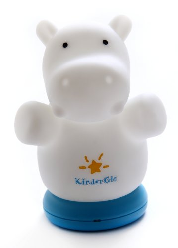 Kinderglo Portable Fun and Safe Rechargeable Night Light, Hippo