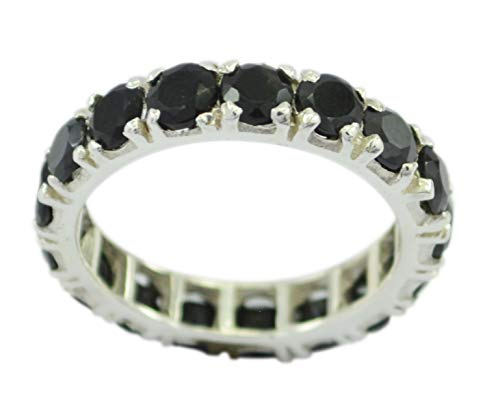 Wholesale 925 Sterling Silver Attractive Natural Black Ring, Black Onyx Black Stone Silver Ring -