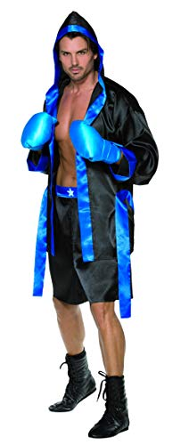 Smiffys Men's Boxer Costume, Robe, Shorts, Belt and Gloves, Icons and Idols, Serious Fun, Size M, -