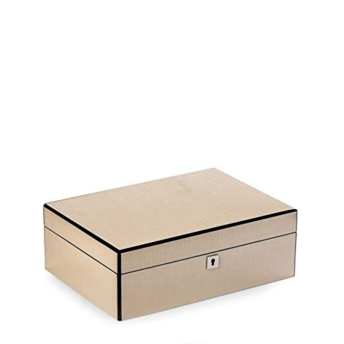 Bey Berk Lacquered Ivory White Jewelry Box by Bey-Berk