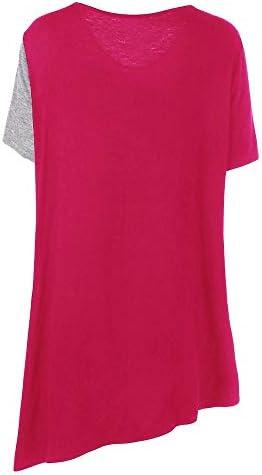 TIFIY Donna Camicetta Maniche Corte Maglietta Estivi T-Shirt Cotone e Biancheria Maglie Donna Taglie Forti Top Abbigliamento Donna Taglie Forti