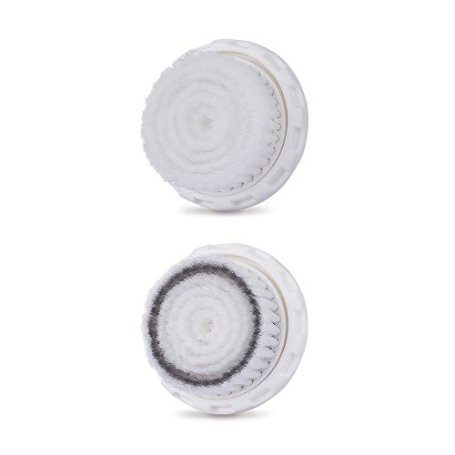 Facial Cleansing Brush Head Replacement Compatible with MiroPure, TEC.Bean Sonic Vibration Facial and Body Cleansing Brush